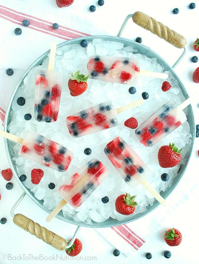Coconut Water and Fresh Berry Popsicles