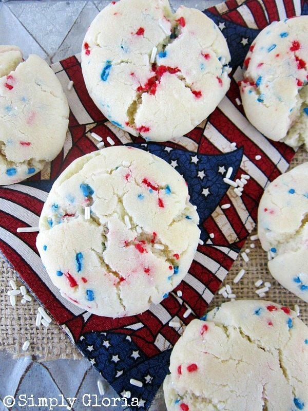 July 4th Sprinkle Cookies