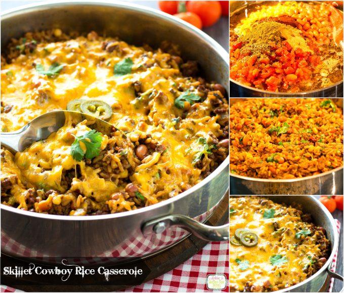 Skillet Cowboy Rice Casserole
