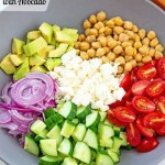 Chopped Chickpea Salad with Avocado