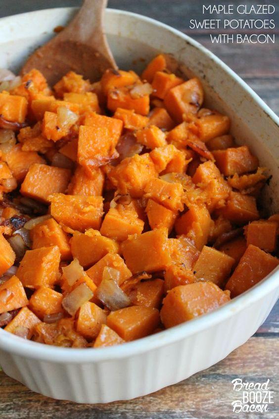maple-glazed-sweet-potatoes-with-bacon