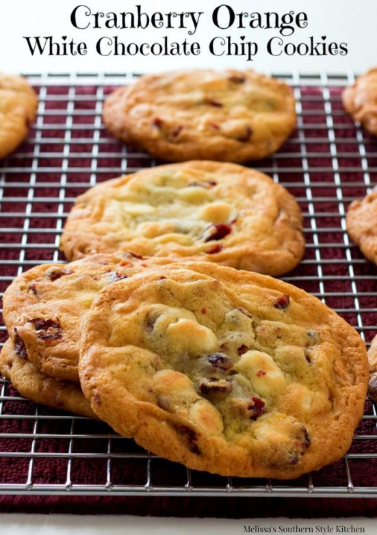 Cranberry Orange White Chocolate Chip Cookies