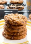 Triple Chocolate Chip Pudding Cookies