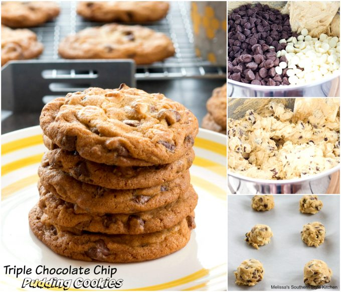 step-by-step images and ingredients to make cookies