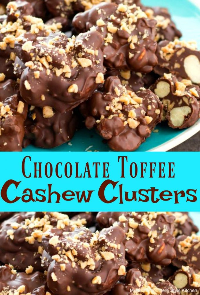 Chocolate Toffee Cashew Clusters