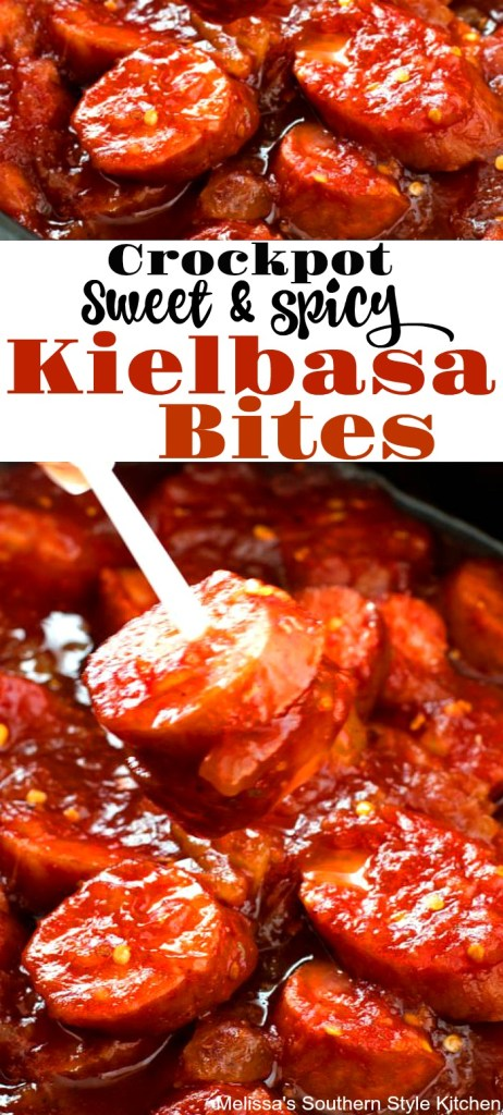Crockpot Sweet and Spicy Kielbasa Bites