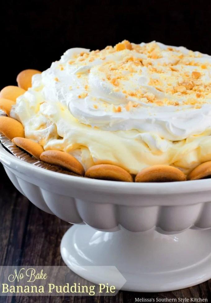 No-Bake Banana Pudding Pie