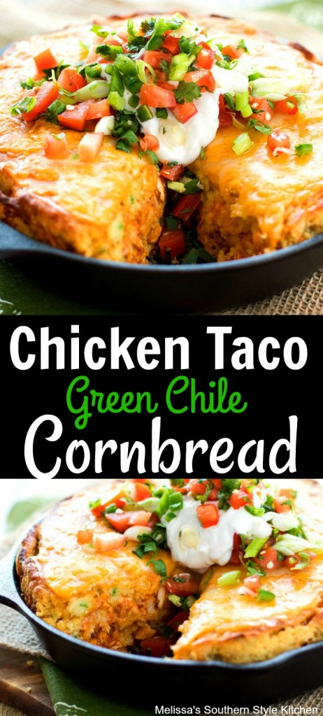 Chicken Taco Green Chile Cornbread