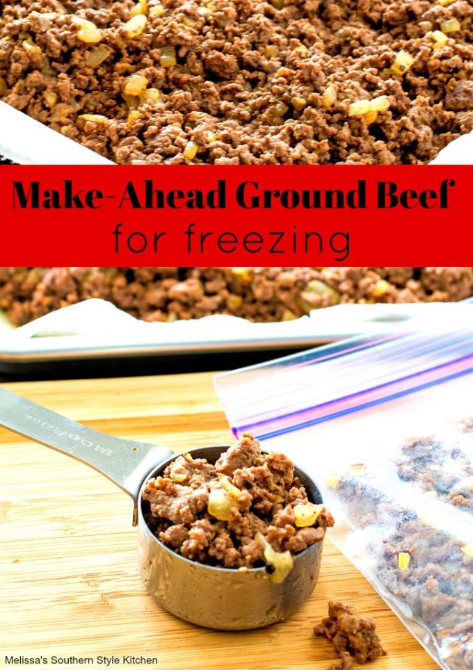 Make Ahead Ground Beef for Freezing