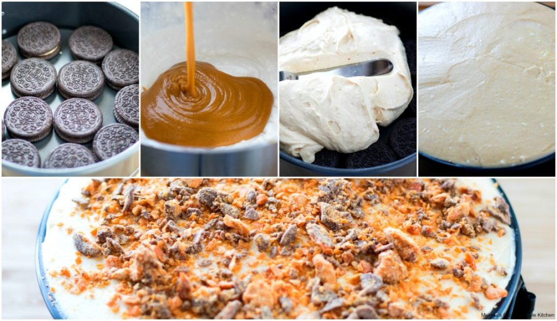 Step-by-step preparation images and ingredients to make cake