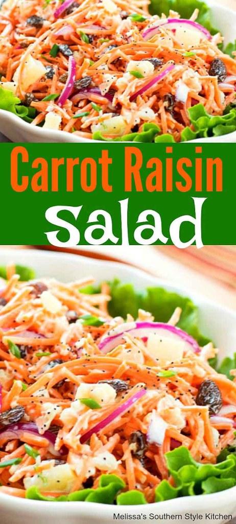 Carrot Raisin Salad with Pineapple