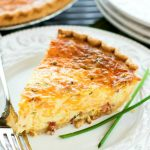 Bacon Cheddar Chive Quiche