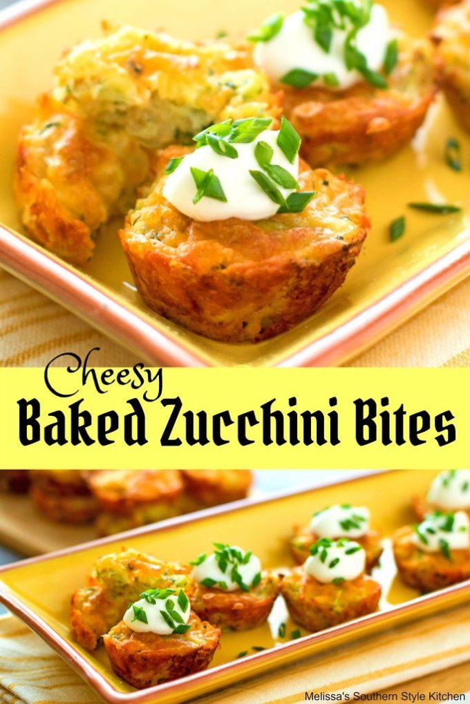 Cheesy Baked Zucchini Bites