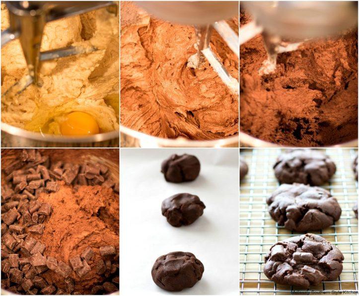Chocolate Chocolate Chunk Pudding Cookies