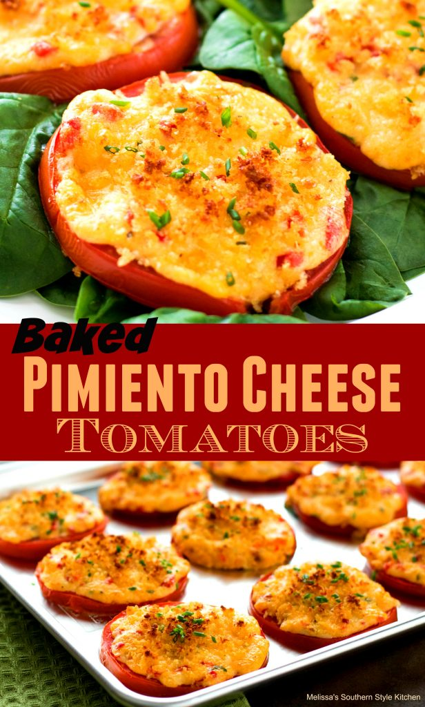 Baked Pimiento Cheese Tomatoes