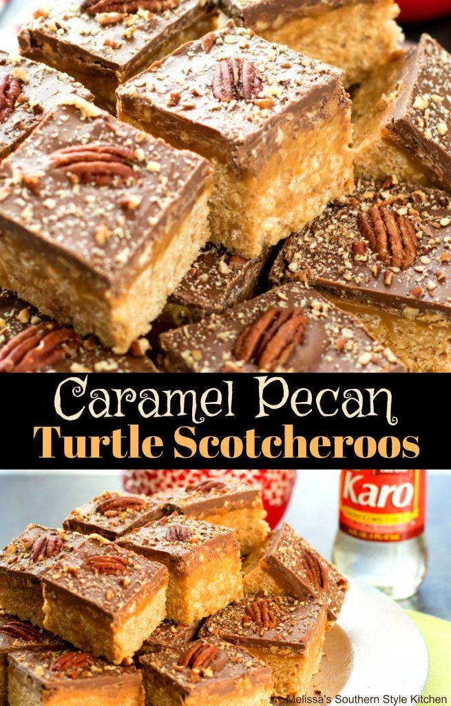 Caramel Pecan Turtle Scotcheroos