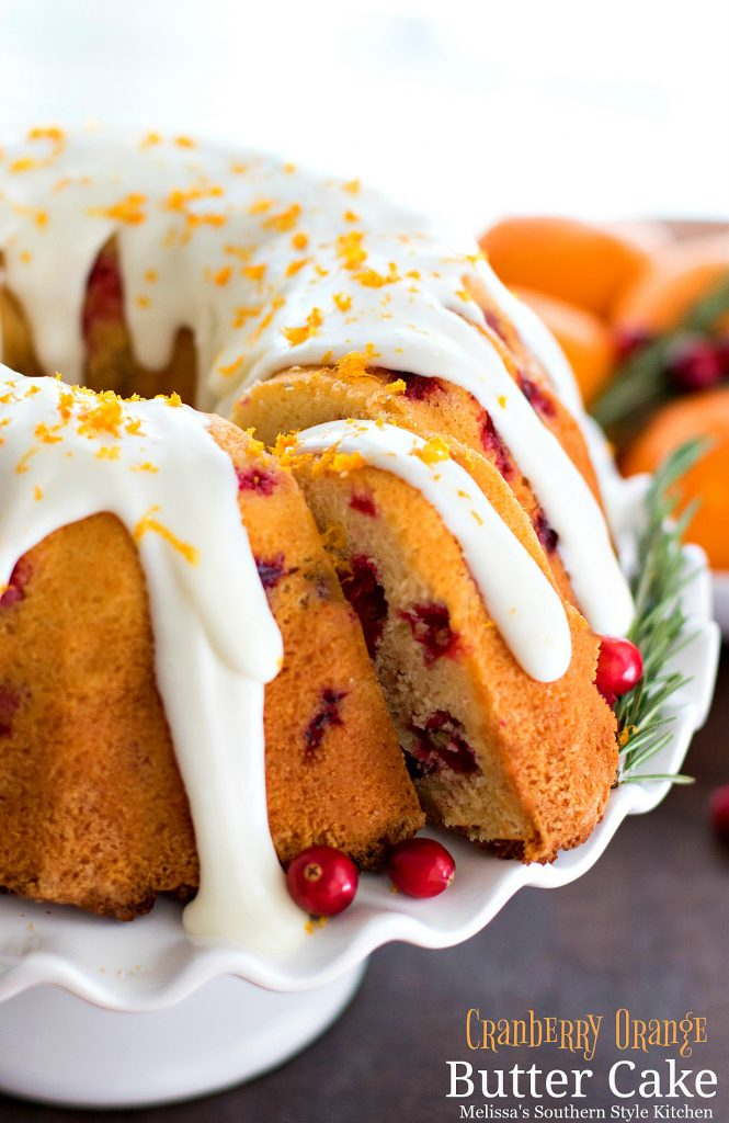 Cranberry Orange Butter Cake