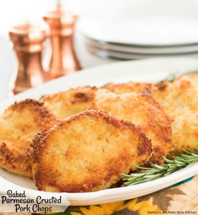 Baked Parmesan Crusted Pork Chops