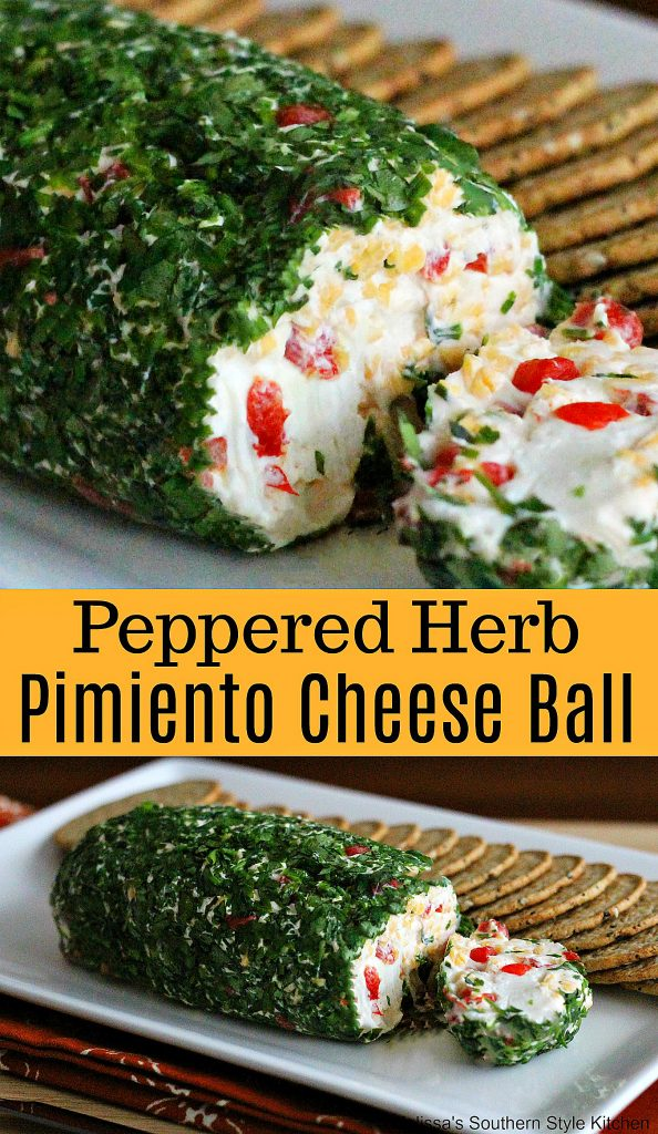 Peppered Herb Pimiento Cheese Ball
