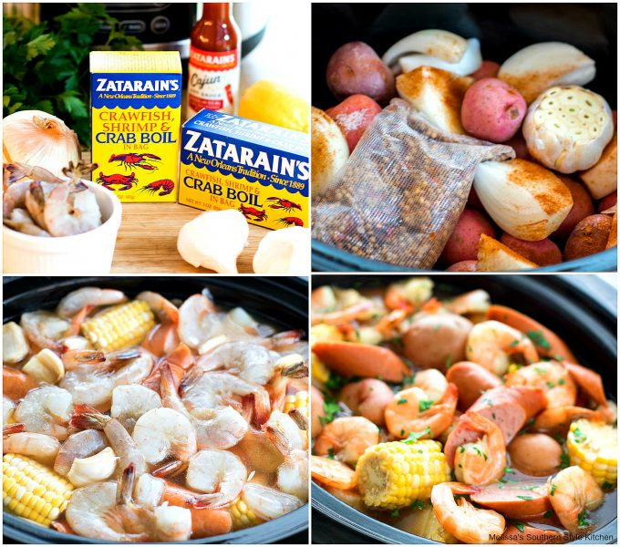 Slow Cooker Shrimp Boil