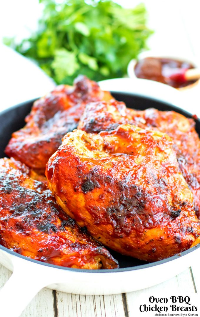Oven BBQ Chicken Breasts - melissassouthernstylekitchen.com