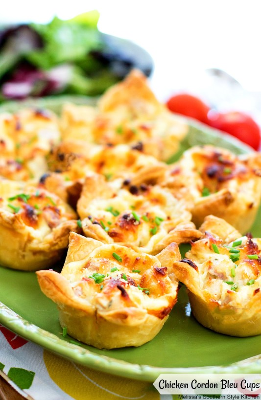 Chicken Cordon Bleu Cups