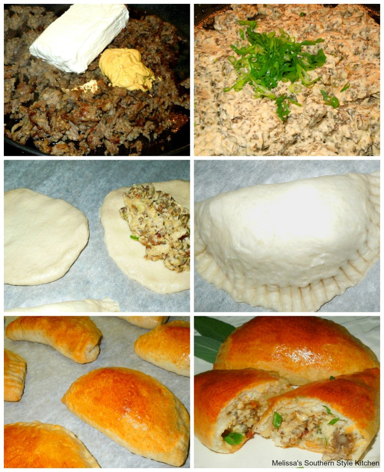 Step-by-step preparation images and ingredients for Breakfast Pastries