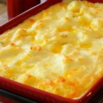 Baked Garlic Herb Mashed Potatoes