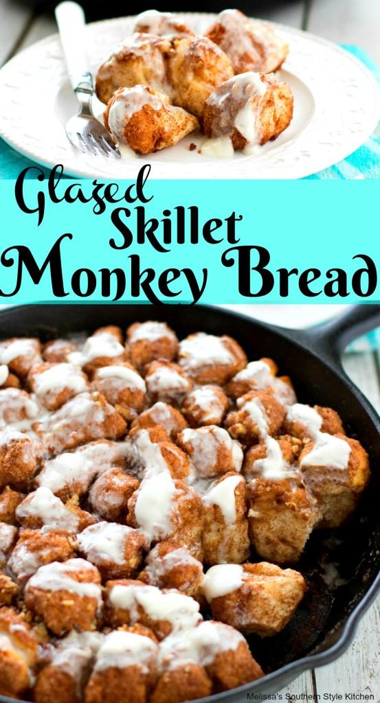 Glazed Skillet Monkey Bread