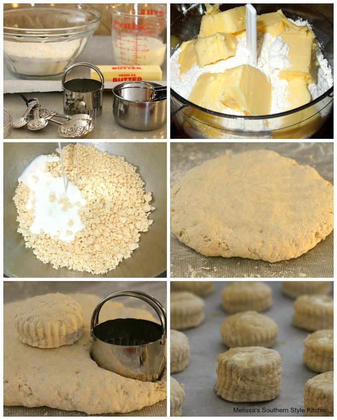 Step-by-Step pictures of preparation of Fluffy Southern Buttermilk Biscuits