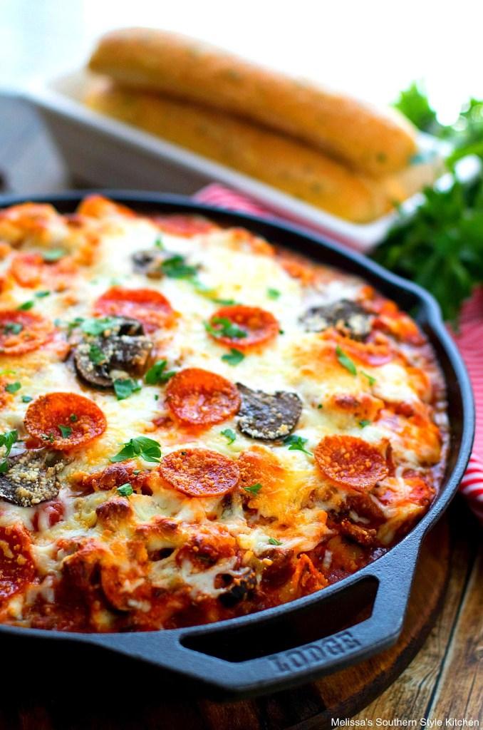 Baked Supreme Pizza Tortellini Bake