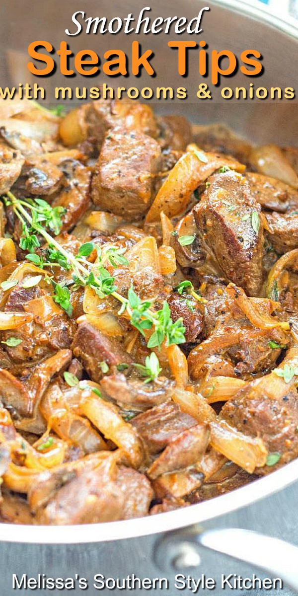 Smothered Steak Tips with Mushrooms and Onions