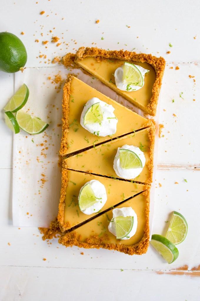 Key Lime Pie cut into pieces