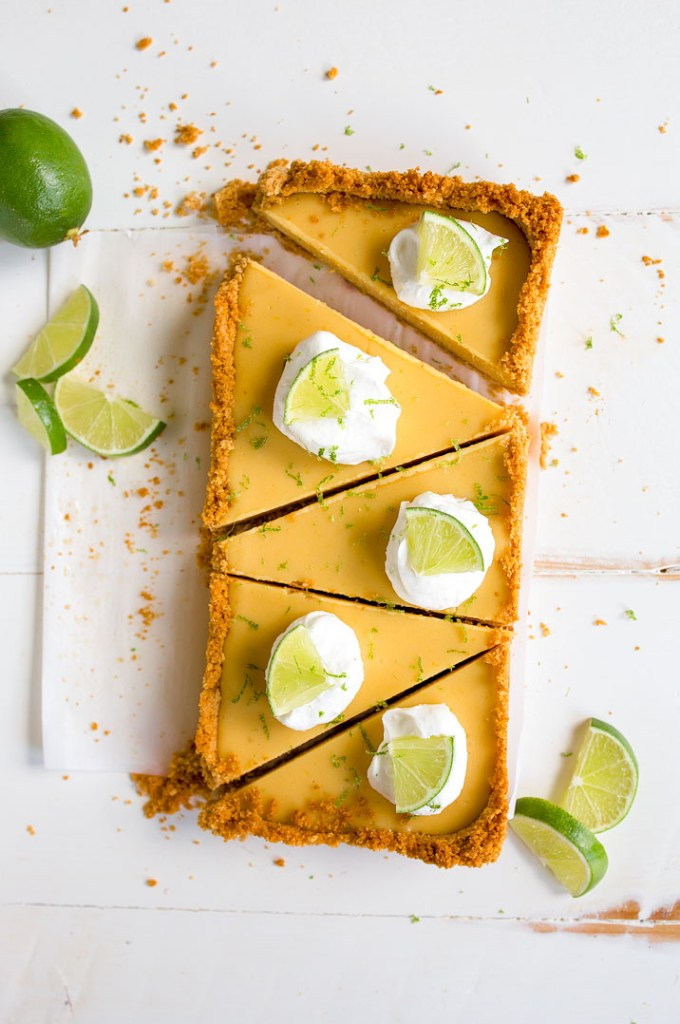 Key Lime Pie cut into pieces