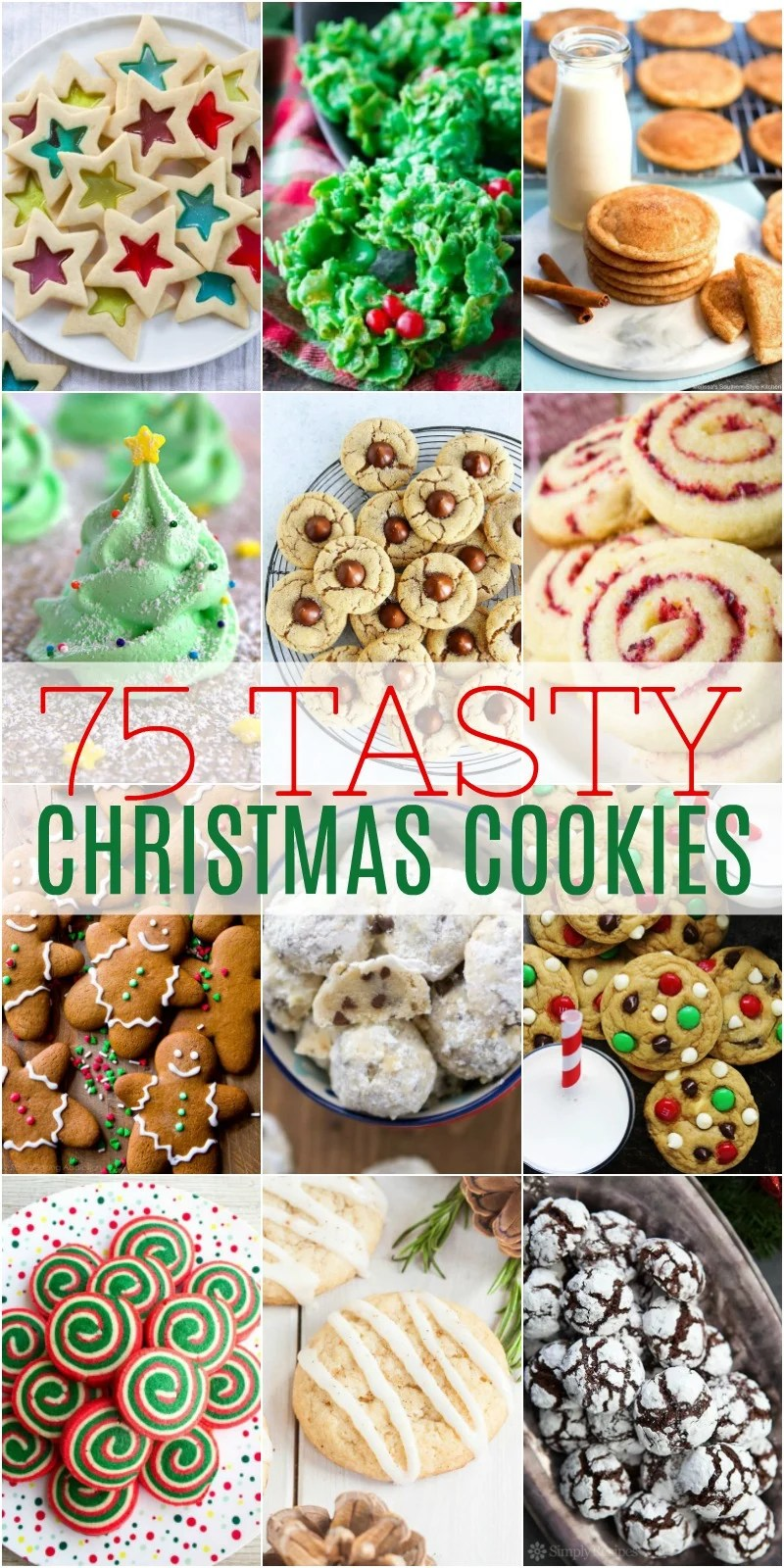 vertical christmas cookie collage with text