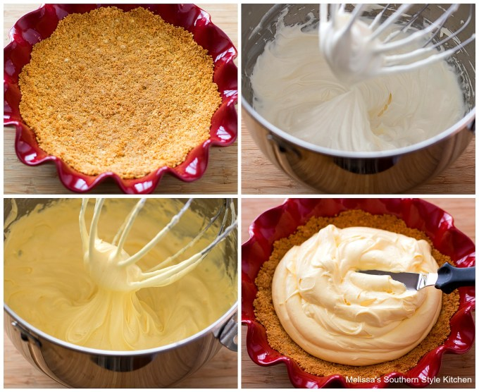 pie crust in a pie dish with whipped cream