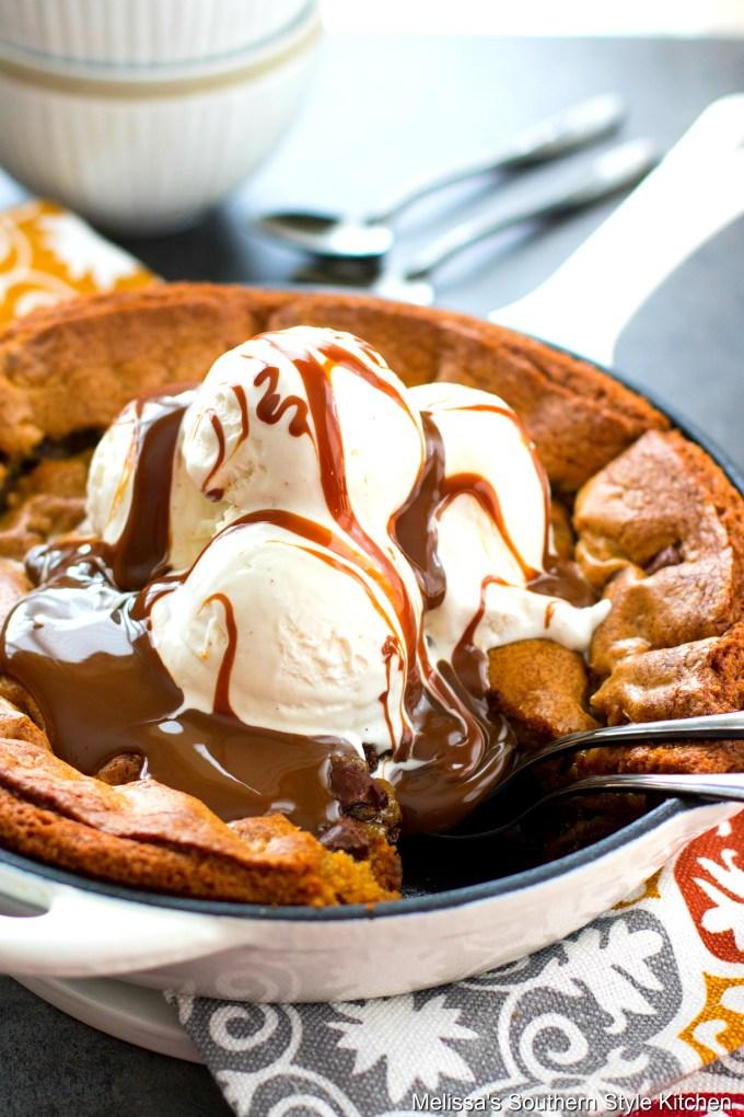 Chocolate Chunk Skillet Cookie