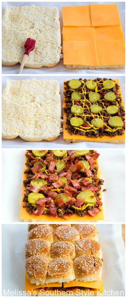 Step-by-step images and ingredients for Bacon Cheeseburger Hawaiian Sweet Roll Sliders