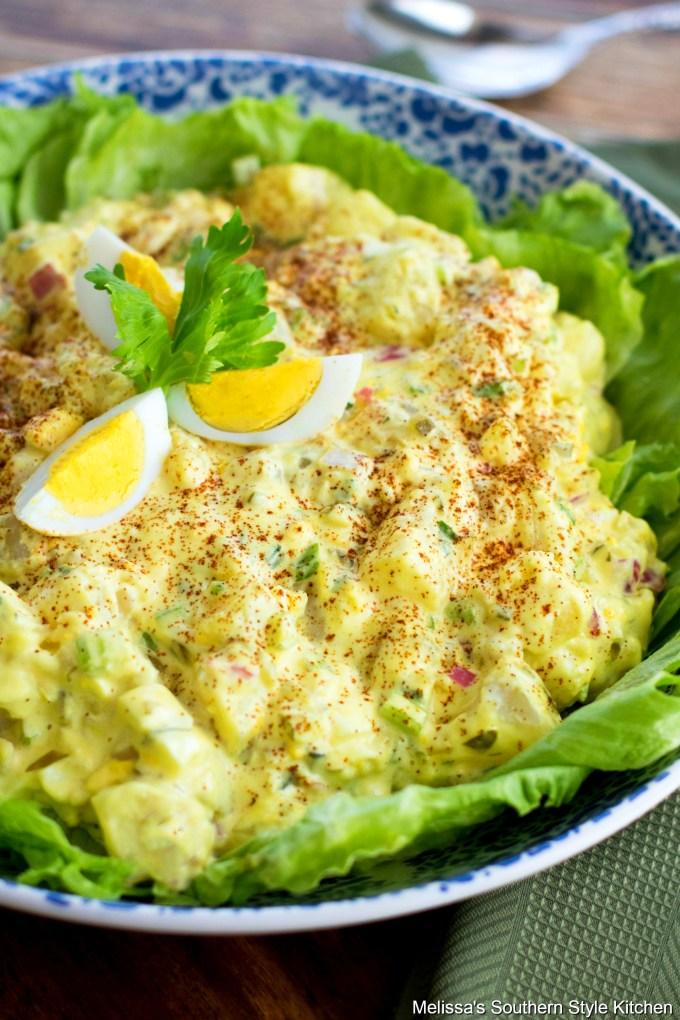 Prepared Southern Potato Salad in a bowl