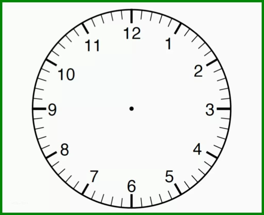 Uhr Basteln Vorlage