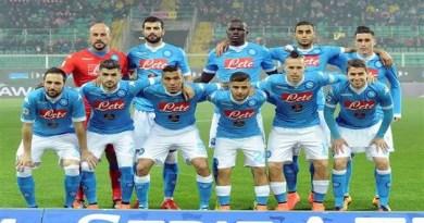 Palermo vs Napoli - la formazione azzurra schierata