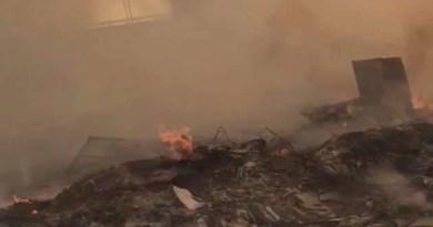 incendio campo rom Scampia
