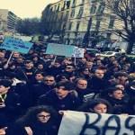 Manifestazione a Napoli: sgomberata l'Accademia Belle Arti