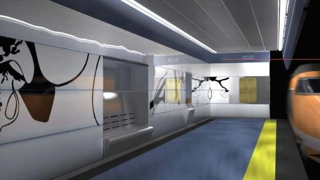 Metro Melito stazione progetto