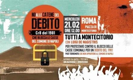 Debiti Comune di Napoli, manifestazione a Montecitorio
