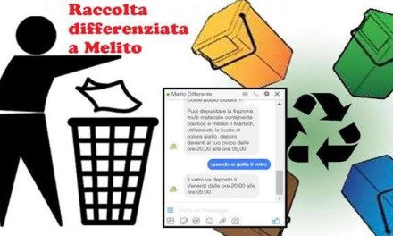 Melito, il comune lancia una chat su Facebook per la raccolta differenziata