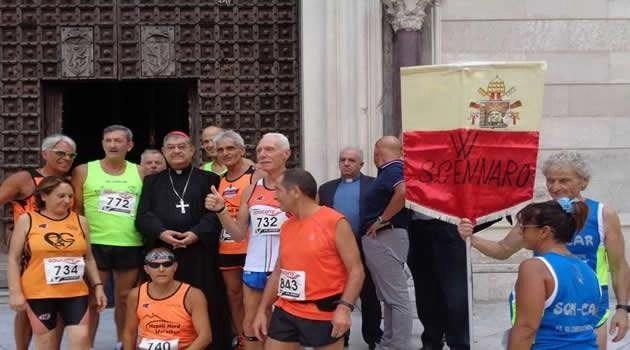 Una maratona e le fiaccole della Fede in onore di San Gennaro