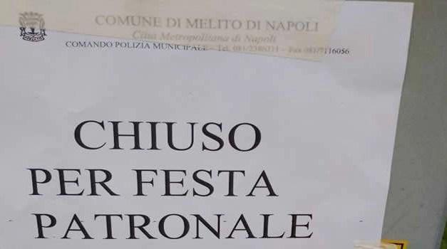 Melito, Uffici chiusi per la festa patronale