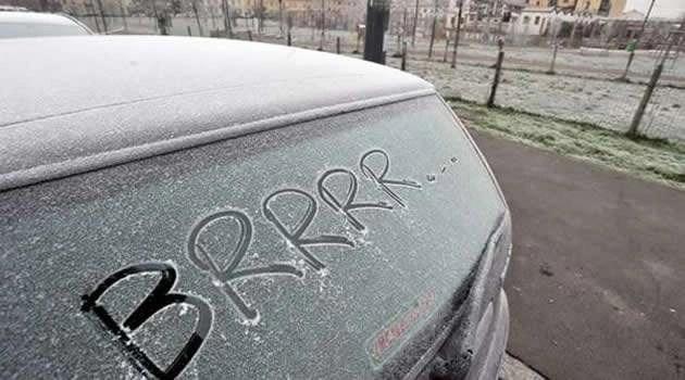 arrivo del gelo brrrrr