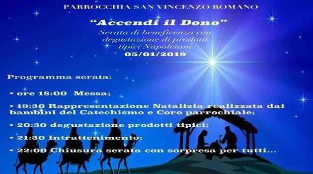 Melito - parrocchia San V. Romano - accendi il dono